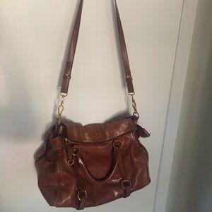 Prada's Miu Miu - Vitello Lux Bow Satchel Leather